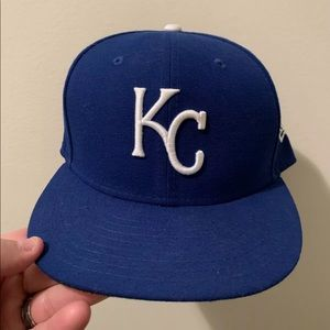 Kansas City Royals New Era Blue Fitted Hat 7 5/8